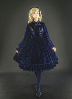 LingXi -The Wild Rose- Embroidery Vintage Classic Lolita Collar OP Dress,Lolita Dresses, Rose Embroidery, Vintage Embroidery, Gothic Lolita Dress, Blouse And Skirt, Mori Girl, Japan Fashion, Lolita Fashion, Modern Fashion, Vintage Patterns