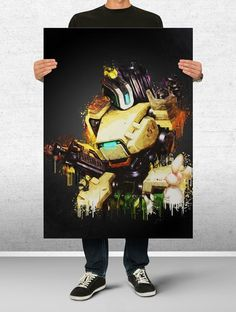 Bastion Overwatch Art Print Watercolor Wall Decor Game Print Poster Gift