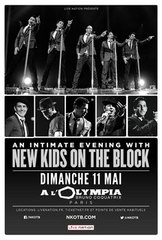 Les New Kids on the Block de retour à Paris le 11 mai 2014 à l'Olympia ! #NKOTB @Christy Wilbanks