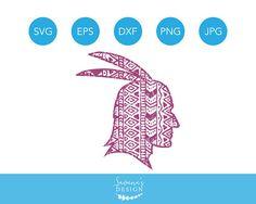 Indian SVG, Indian SVG Files, Indian SVG Designs, Native American Svg, Thanksgiving Zentangle, Zendoodle Svg, Zentangle Svg Files