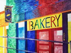 """Grandma's Bakery""1996 watercolor by Colin Claxon"