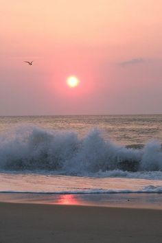 Outer Banks, Waves, NC (Sunrise) - I would like to go back here and never leave.