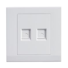 Retrotouch Simplicity White Dual RJ45 Data Socket at UK Electrical Supplies.