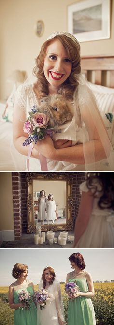 Vintage Wedding Inspired By The Carousel Scene From Mary Poppins With A Mint Green, Lavender And Gold Colour Scheme With Bride In Gala By Cymbeline With Rachel Simpson Shoes 3