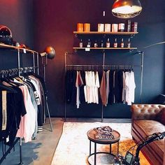 Create your very own walk-in closet with our customizable wardrobe solutions! Combine it with shelves! Wardrobe Solutions, Wardrobe Design, Water Pipes, Walk In Closet, Industrial Style, Wardrobe Rack, Shelves, Inspiration, Clothes