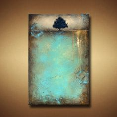 Abstract Tree Painting with Heavy Texture -- 24 x 36 -- Earth Spring I -- by Britt Hallowell. $350.00, via Etsy.