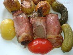 Bravčová pečeň v šunkovom zvitku (fotorecept) - Recept Ham, Sausage, Food, Style, Swag, Hams, Sausages, Essen, Meals