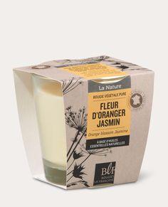 Bougie naturelle parfumée fleur d'oranger jasmin 15€