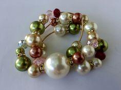 Mod:P19 Pulsera dw perlas y cristales $100.00 mayoreo 25% de descuento $75.00