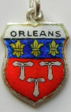 Orleans France Enamel Travel Shield Charm | eBay I have one of these charms...went to high school in Orleans for three years in the 50's. Great place to live...Orleans Trojans!