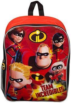 """2018 Disney Incredibles 2 16/"""" Large School Backpack"""