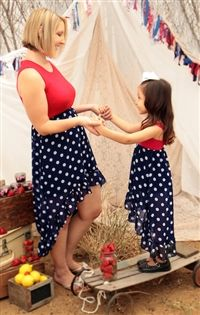 How cute for a backyard BBQ? Fun and summery mommy and me dress! Just Like Mommy Collection, Be Inspired Boutique