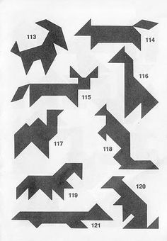 Tangram infantil Origami, Math Projects, Logic Puzzles, Puzzles For Kids, Brain Teasers, Quilts, Pattern, Education, Geometric Fashion
