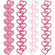 I think I'm in love with this design from the Silhouette Design Store! - border vertical hearts