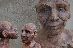 Marianne van den Berg, Phillip and Charlie, ceramic patinated 30 x 8 x 8cm each