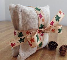 Autumn themed balsam fir sachets/pillow set by Suchnsew on Etsy