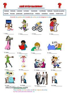 las tareas de la casa   Spanish Worksheets - Hojas de Trabajo ...
