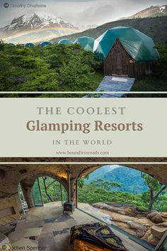 We have researched the coolest glamping resorts in the world. Glamping has become the latest trend and we have choosen the best spots for you. Vacation Places, Vacation Trips, Dream Vacations, Vacation Spots, Places To Travel, Summer Vacation Ideas, Us Travel Destinations, Best Family Vacations, Greece Vacation