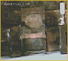 Ghost in a chair at Chillingham Castle. Whether or not the picture is real, Chillingham is notoriously extremely haunted.
