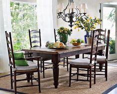 Farmhouse table--love the giant legs!