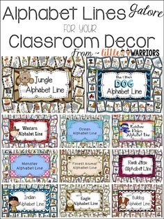 Alphabet Lines Galore for your Classroom Decor!!! - Little Warriors