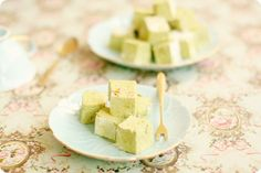 matcha marshmallows. hopefully they aren't too sweet? i also wonder what the texture is like, hopefully not too soft and sticky? i like the dried out texture of lucky charms marshmallows hehe.