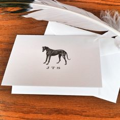 New to VeronicaFoleyDesign on Etsy: Personalized Greyhound Stationery with Vintage Dog Art Thank You Note 100% Cotton Savoy Paper  - Set of 10 - 300 (18.00 USD)
