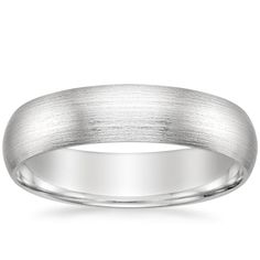 18K White Gold 5mm Matte Comfort Fit Wedding Ring from Brilliant Earth
