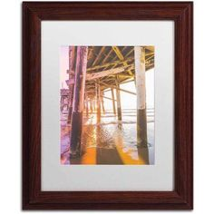 Trademark Fine Art 'Newport Pier 3' Canvas Art by Ariane Moshayedi, White Matte, Wood Frame, Size: 11 x 14, Multicolor