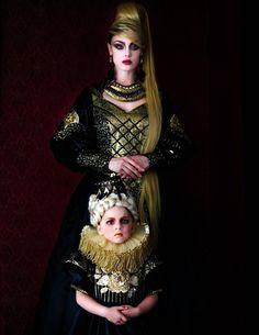 Evgenia #Luzhina #darkbeautymagazine #JenkasFashion #couture #Russian #renaissance #costumes