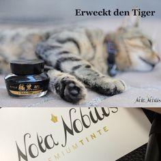 """Was machen wir in der Früh? - Er erwecken den Tiger in uns!  Sailor's """"Pigmentetinte Black"""" mit ihrer Nano-Pigment Formel zeichnet sich durch einen charaktervollen rauchig schwarzen Farbton aus. Dank exzellenter Schreibeigenschaften und Dokumentenechtheit in unseren Test, besticht diese #Premiumtinte in jeder Lebenslage.  Einzigartig in Österreich. Schlag jetzt bei www.nota-nobilis.at zu und genieße selbst diese Tinte bereits in wenigen Tagen!  #Premiumtinte #Premium"""