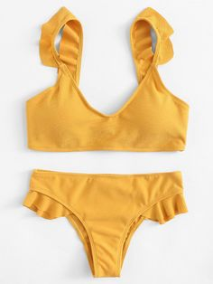 Shop Adjustable Straps Ruffle Bikini Set online. SheIn offers Adjustable Straps Ruffle Bikini Set & more to fit your fashionable needs.