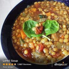 Lentil Soup   So much great stuff in one warm bowl of soup!