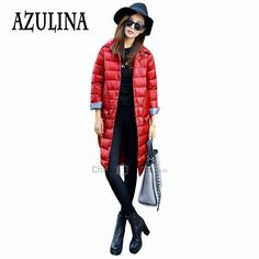 Find More Down & Parkas Information about AZULINA Red Down Coat Women White Duck Down Winter Warm Female Slim Jackets Long Sleeve Turn Down Neck Outwear Long Coats,High Quality jacket wedding,China jacket bridal Suppliers, Cheap coat womens from AZULINA Store on Aliexpress.com