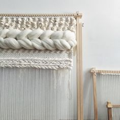 Woven Wall Hanging Ivory and Neutrals Weaving by UnrulyEdges Loom Weaving, Tapestry Weaving, Hand Weaving, Palette, Middle East Culture, Loom Board, Special Wedding Gifts, Neutral, Yarn Wall Art