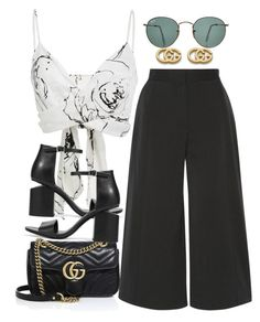 """""""Sin título #3354"""" by camilae97 ❤ liked on Polyvore featuring Christian Siriano, Ray-Ban, Proenza Schouler, Gucci and Alexander Wang"""