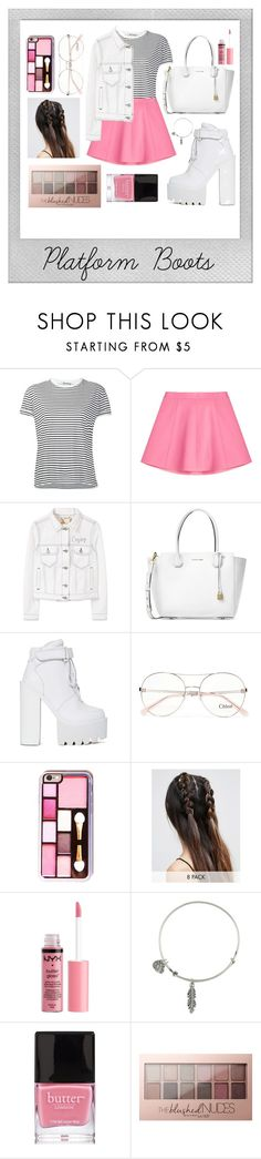 """""""Booties #9"""" by hanifahariadi ❤ liked on Polyvore featuring T By Alexander Wang, RED Valentino, MANGO, Michael Kors, Jeffrey Campbell, Chloé, ASOS, Polaroid, Charlotte Russe and Alex and Ani"""