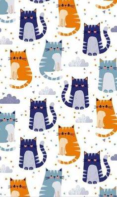 (notitle) - Flora y Fauna - Cat Wallpaper Cat Pattern Wallpaper, Cat Wallpaper, Cute Wallpaper Backgrounds, Iphone Wallpaper, Cute Pattern, Pattern Art, Cute Cartoon Wallpapers, Kawaii Wallpaper, Cat Crafts