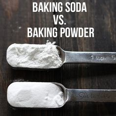 The surprising differences between Baking Soda vs. Baking Powder and how they work and affect your baking. Be a better baker by learning these fundamentals! Healthy Cooking, Cooking Recipes, Cooking Ideas, How To Cook Everything, Kitchen Helper, Cupcakes, Learn To Cook, Food Hacks, Food Tips