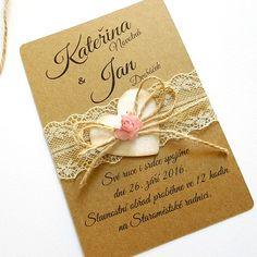 Svatební oznámení / Zboží prodejce Přání od Katy | Fler.cz Lace Wedding Invitations, Invitation Envelopes, Wedding Announcements, Anniversary Cards, Pretty In Pink, Diy And Crafts, Floral Design, Wedding Decorations, Card Making