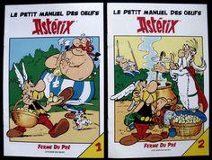 ASTERIX, LE PETIT MANUEL DES OEUFS, TOMES 1 & 2, TIRAGE PUB LA FERME DU PRE 1990