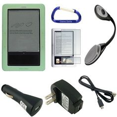 Super Bundle for the Barnes and Noble Nook eReader (1st Edition): Silicone Skin Gel Case (Green), eBook LED Bright Light, USB Data Sync Cable, Screen Protector, USB Car Charger, USB Wall Home/Travel Charger, and Free Carabiner Key Chain by Green. $14.85. The high grade silicone gel skin case is a perfect fit for your ebook reader. The Barnes and Nobles Nook will look stylish and have a nice comfortable grip.. Save 50%!