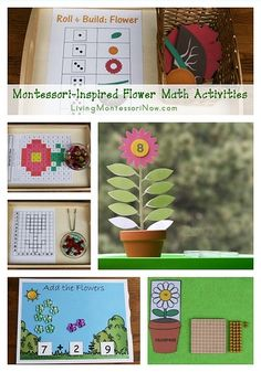 Lots of free flower printables and Montessori-inspired flower math activities for classroom or home. Perfect for spring themes for preschool through early elementary - Living Montessori Now Montessori Education, Montessori Classroom, Montessori Toddler, Montessori Materials, Montessori Activities, Homeschool Math, Homeschooling, Toddler Activities, Preschool Garden