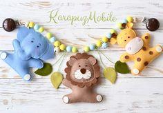 """Kinderwagenketten - Kinderwagenkette """"Safari"""" - ein Designerstück von KarapuzBoutique bei DaWanda"""