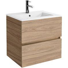 Mobile Bagno Moderno Sospeso con Lavabo cm 60 colore Olmo