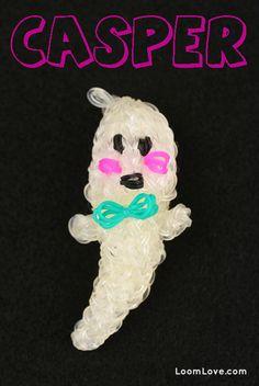 How to make a Rainbow Loom Casper the Friendly Ghost