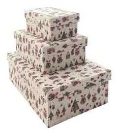 Scatole rettangolari con coperchio in carta Grafiche Tassotti Natale con gli amici cod.1404