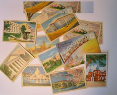 Vintage 1940s Photographs and postcards from Washington DC. Folio of photos plus 12 unused postcards. lot of ephemera for collage, scrapbook by PickleladyPapers on Etsy