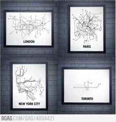 metro map London, Paris, New York, Warsaw Subway Map, Metro Subway, Toronto Subway, New York Subway, Nyc Subway, Helsinki, Lonely Planet, Glasgow Subway, Abstract
