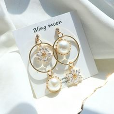 Cute Jewelry, Jewelry Box, Jewelry Accessories, Jewelry Design, Fashion Earrings, Fashion Jewelry, Gold Fashion, Necklace Online, Mode Style